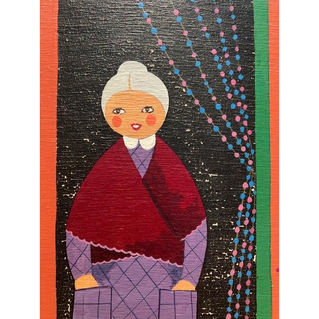 1970s Mid-Century Painting - La Marchande De Bonbons by Dominique LeFranc 1979 For Sale - Image 5 of 10