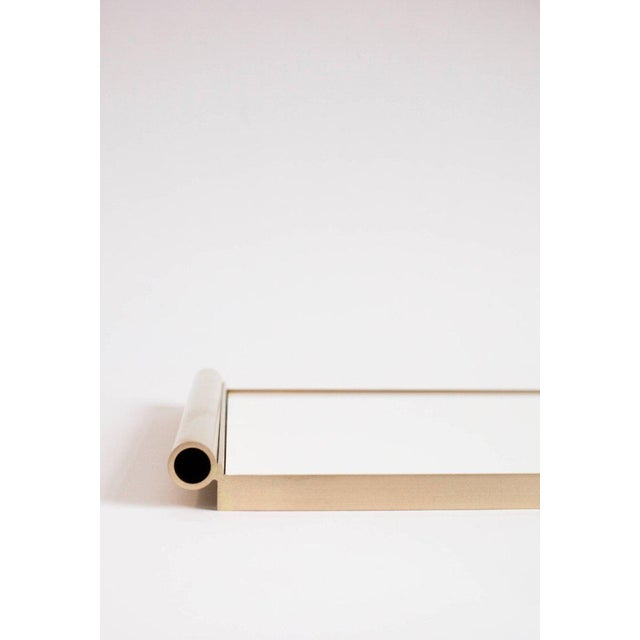 2010s Modern Contemporary 001 Tray in Brass and Lucite by Orphan Work For Sale - Image 5 of 7