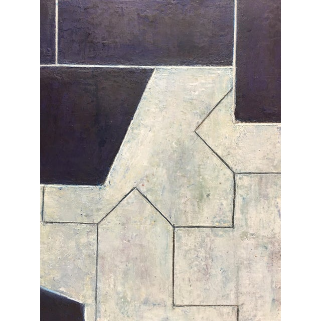 2010s Geometric Abstract Oil Painting From the Ancient Modern Series by Stephen Cimini For Sale - Image 5 of 7