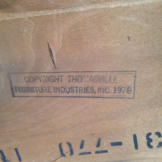 Thomasville Burled Asian Style Cabinet - Image 8 of 8