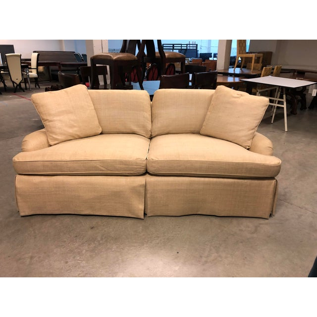 Design Plus Gallery presents a Custom Sofa by Century Furniture. A two on two cushion, accompanied with a pair of accented...