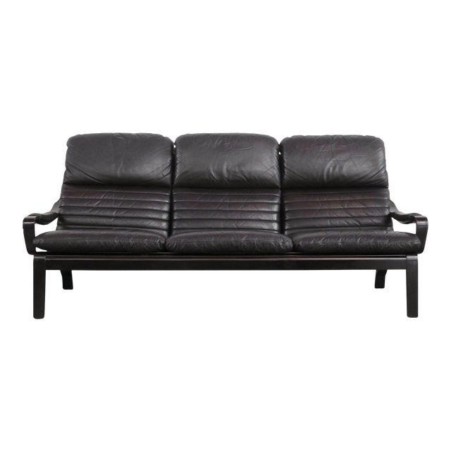 Astonishing Late 20Th Century Vintage Australian Leather Couch Creativecarmelina Interior Chair Design Creativecarmelinacom