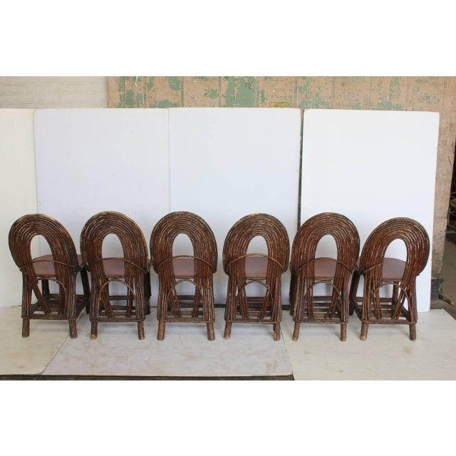 Adirondack Mid 20th C. Vintage Adirondack Chairs- Set of 6 For Sale - Image 3 of 5