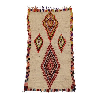 Vintage Berber Moroccan Azilal Rug With Bohemian Style, 04'00 X 06'08 For Sale