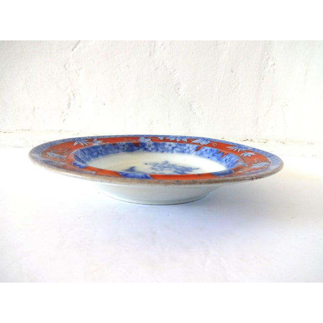 Mason's Ironstone Early 19th Century Antique Mason's Staffordshire Flow Blue Dish For Sale - Image 4 of 10