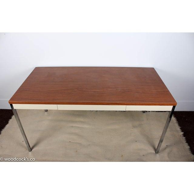 Steelcase Modern Minimalist Writing Desk - Image 4 of 9