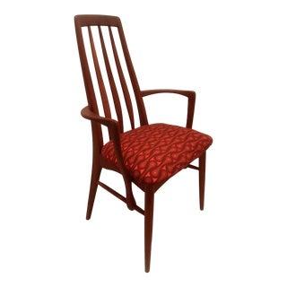 """1960s Niels Koefoed """"Eva"""" Teak Armchair Josef Hoffmann Upholstery For Sale"""