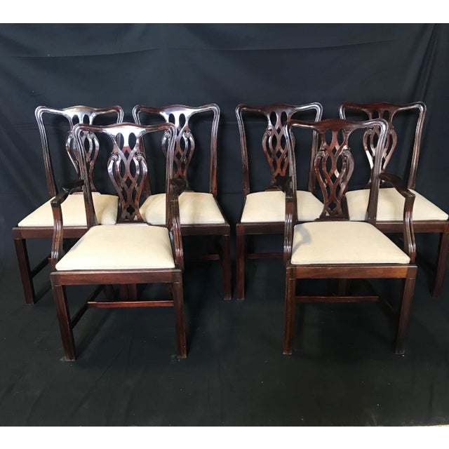 19th Century Antique English Mahogany Chippendale Style Dining Chairs-Set of 6 For Sale - Image 13 of 13