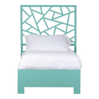 Tiffany Bed Twin Extra Long - Turquoise For Sale