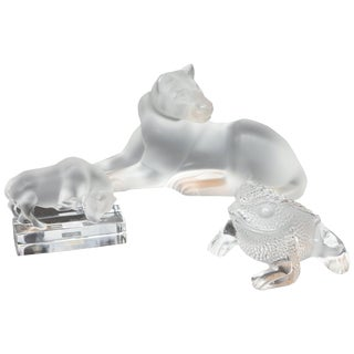 Set of Lalique Animals For Sale