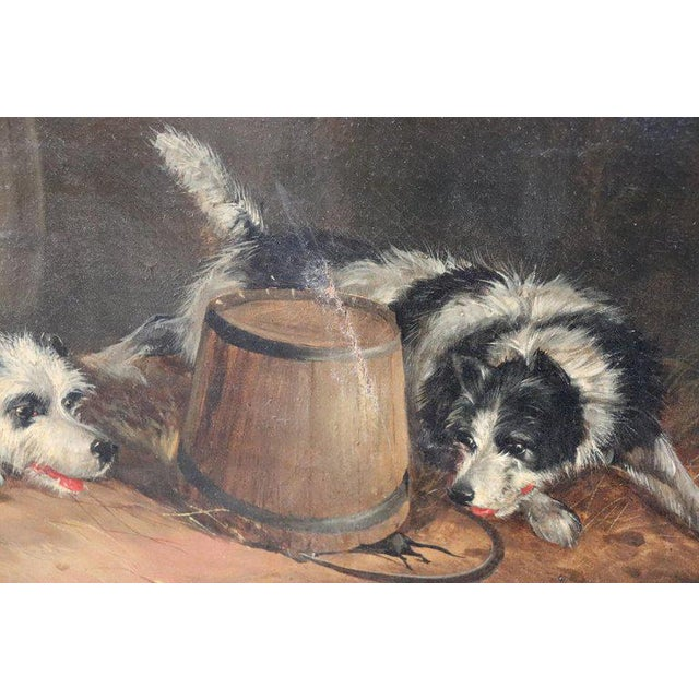 Brown 19th Century English Oil Painting on Canvas With Golden Frame by George Armfield For Sale - Image 8 of 13