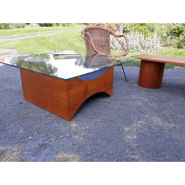 This is a Danish modern teak coffee table base by R S associates of Montreal. This was created in the 1960's during the...