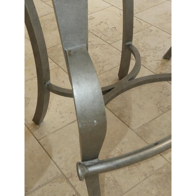 1990s Modern Biedermeier Style Metal Counter Stools - Set of 3 For Sale - Image 10 of 13