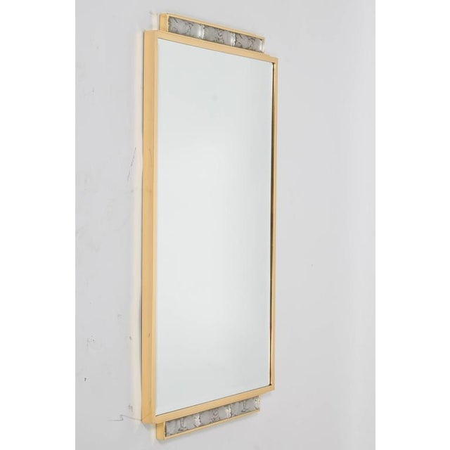 Brass Art Deco Wall-Mirror For Sale - Image 8 of 9