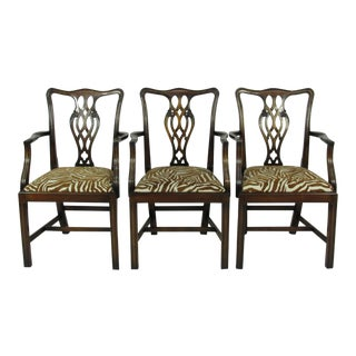Chippendale Style Dining Chairs - Set of 3