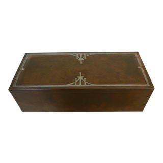 Heintz Silver Inlay & Bronze Cigar Box