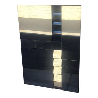 Abstract Plate Glass Staircase Mirror