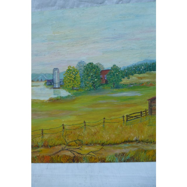 Mid Century Farm Painting by H.L. Musgrave - Image 5 of 7