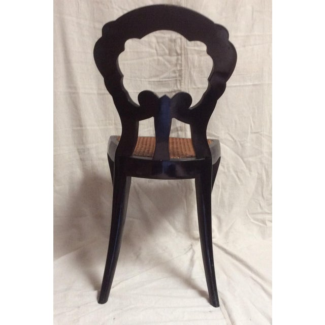 Italian Lacquered Chair With Mother of Pearl For Sale - Image 9 of 11