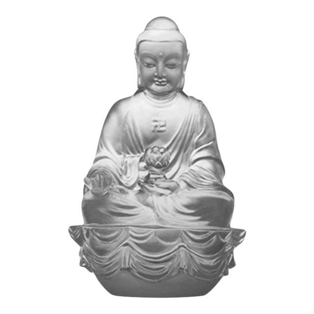 "Crystal ""Present Mindfulness"" Amitabha Buddha, Guardians of Peace, Powder White For Sale"