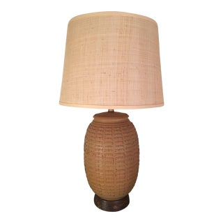 Mid 20th Century Bob Kinzie Pottery Table Lamp With Shade For Sale
