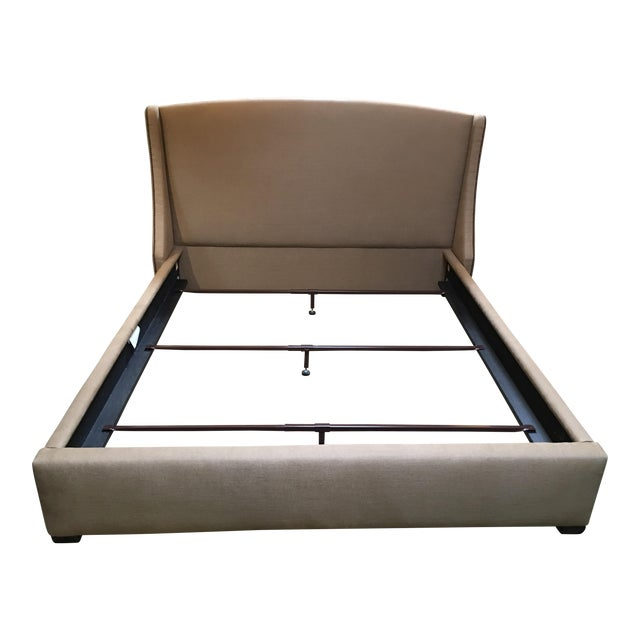 Cabana Home Custom Upholstered California King Bed Frame | Chairish