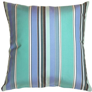 Sunbrella Dolce Oasis Striped Indoor / Outdoor Pillow For Sale