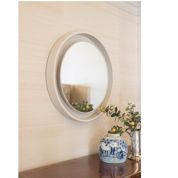 French Art Deco Porthole Mirror circa 1930s from the Clignancourt market in Paris. The mirror is lit behind the glass and...