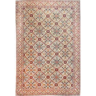"Antique 1920s Persian Hand Knotted Tehran Rug - 7'3"" X 10' For Sale"