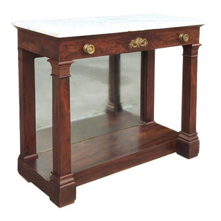 19th Century French 2nd Empire Period Marble Top Console For Sale
