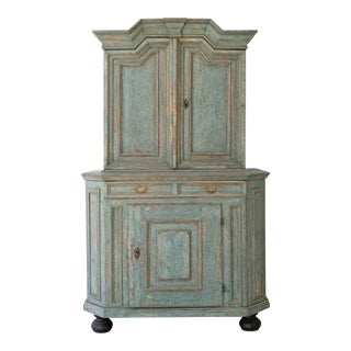 18th Century Swedish Baroque Cabinet For Sale