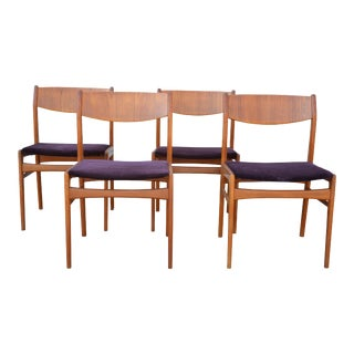 Danish Modern Folk Ohlsson for Dux Dinning Chairs - Set of 4 For Sale