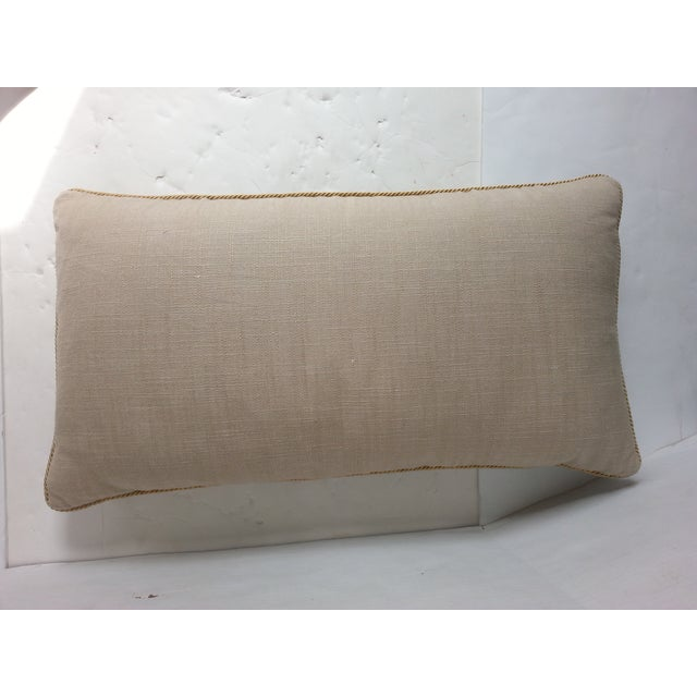 """Boho Chic Masonic """"Tent"""" Embroidered Pillow For Sale - Image 3 of 3"""