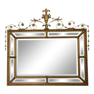Large Adams Brothers Style Gilt Mirror For Sale