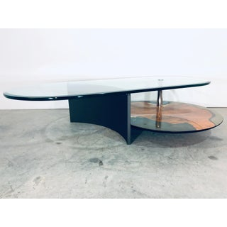 1980s Modern Saporiti Italia Coffee Table With Cantilevered Glass Top Preview