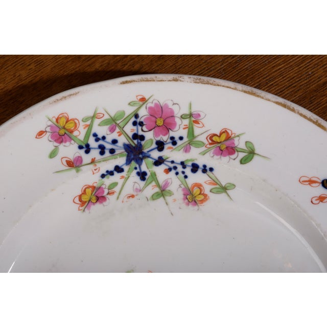 Late 18th Century 18th Century Staffordshire Soft Paste Floral Plates - Set of 12 For Sale - Image 5 of 13