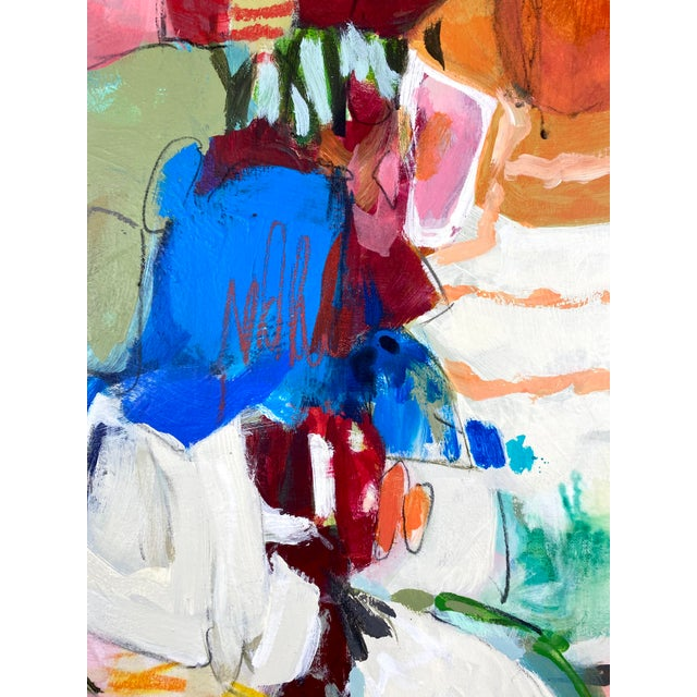 """2020s """"Songs My Mother Taught Me"""" Contemporary Abstract Mixed-Media Painting by Gina Cochran For Sale - Image 5 of 9"""