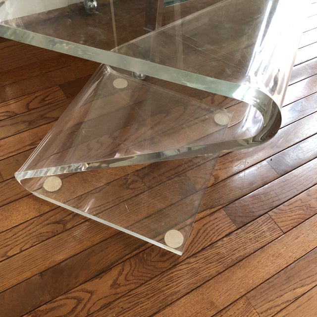 Lucite Vintage Z Lucite Side Chair For Sale - Image 7 of 9