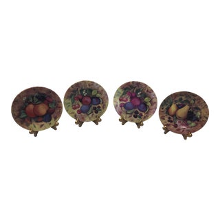 1970s French Limoges Fruit Plates - Set of 4 For Sale