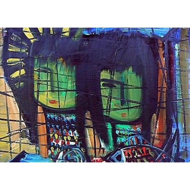Loius Zelig Mid-Century Modern Painting For Sale - Image 4 of 10
