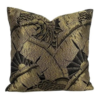 "Ralph Lauren Coco De Mer in Tarnished Gold Pillow Cover - 20"" X 20"" For Sale"