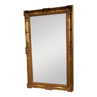 Vintage Large Beveled Wall Mirror For Sale