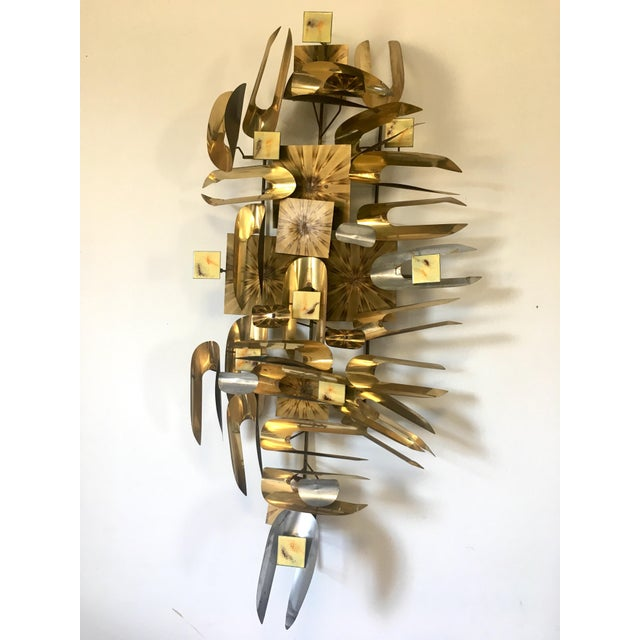 Curtis Jere William Vose Mid-Century Brass Wall Art Sculpture For Sale - Image 4 of 12