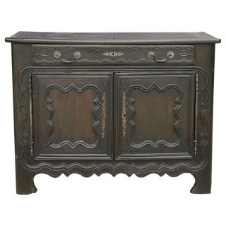 French Dark Brown Oak Buffet For Sale