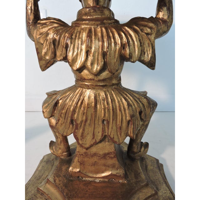 Antique Figural Italian Gilt Wood 'Chinese' Side Tables by Fratelli Paoletti (Early 20th. Century) For Sale - Image 10 of 12