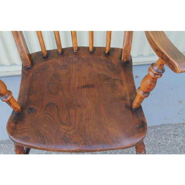 Brown 19thc English High Back Arm Chair For Sale - Image 8 of 8
