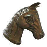 Image of Vintage Solid Brass Horse Head For Sale