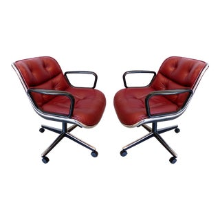 Charles Pollack Modern Executive Swivel Chairs for Knoll- 2 Pairs Available For Sale
