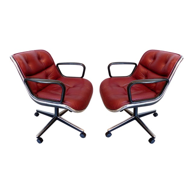 Charles Pollack Modern Executive Swivel Chairs for Knoll- 3 Pairs Available For Sale