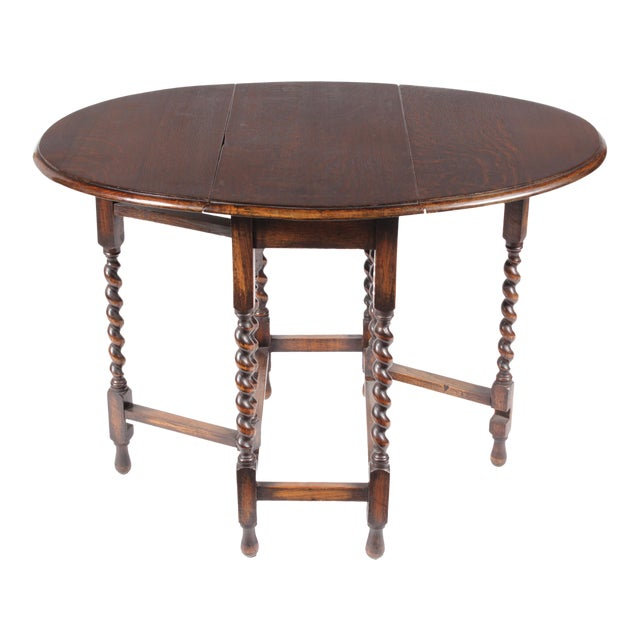 1920s William and Mary Gateleg Table For Sale